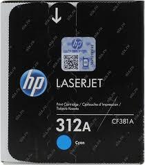 Оригинальный <b>картридж HP</b> CF381A (<b>№312A</b>) (голубой) Голубой ...