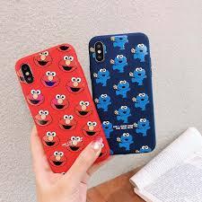 Cute <b>Cartoon Sesame Street</b> Elmo Kaws <b>Phone</b> Case For Iphone Xs ...