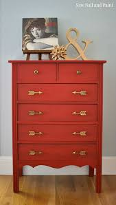 simply red dresser with arrow pulls cheap furniture knobs