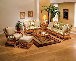 beautiful simple living room remodel design featuring traditional wicker rattan furniture sofa and arm chairs combine beautiful simple living