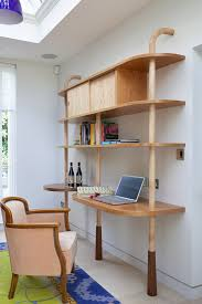 a kitchen in three movements trendy study room photo in london with a built in desk amaazing riverside home office executive desk