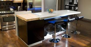 valley concrete bathroom ketchum ftc: concrete island with under counter led lighting