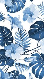 Blue <b>floral</b> wallpaper | <b>Hawaiian</b> wallpaper | Landscape wallpaper ...