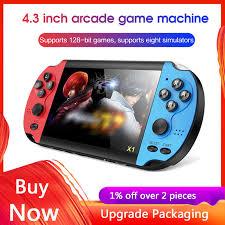 <b>X1</b> 4.3 inch <b>Handheld</b> Game Console Built in 10000 Games <b>Video</b> ...