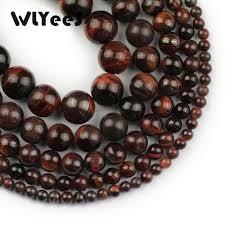 <b>WLYeeS</b> 3A Red oX Tigers eye Stone Bead Ore <b>Natural Stone</b> 4 6 8 ...