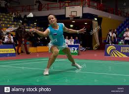 AMSTERDAM, THE NETHERLANDS, 17/02/2012. <b>Badminton</b> player ...