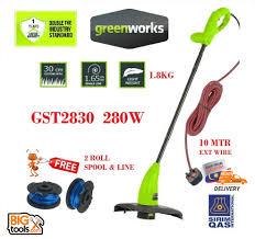 <b>Greenworks GST2830 280w</b> Grass String Trimmer + 2 Roll Spool ...