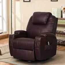 Ebern Designs <b>Leather</b> Reclining <b>Massage Chair</b> with Ottoman ...