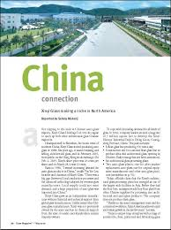an article on China