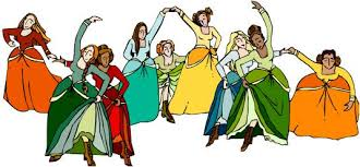 Image result for 9 ladies dancing images