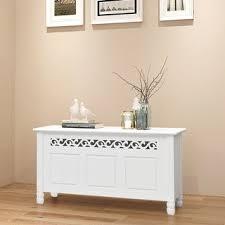 Shop vidaXL <b>Storage Bench Baroque</b> Style MDF White - Overstock ...