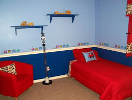 decor red blue room full: bedroom prepossessing ideas for boys room decoration ideas feats lovely red bed and cute pillow also col red sofa and beautiful blue wall color ideas do