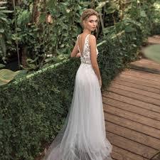 <b>LORIE Beach</b> Wedding Dress 2019 Spaghetti Straps Top Lace <b>Boho</b> ...