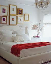 red wall paint black bed:  inspiring picture of red black and white room decoration ideas casual image of red black