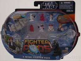 <b>Hasbro Star Wars Fighter</b> Pods 2 Xwing Pack Micro Hero Figure ...