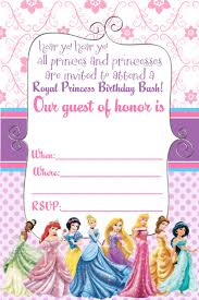 disney princess birthday invitations party ideas disney princess invitation and thank you card mysunwillshine com
