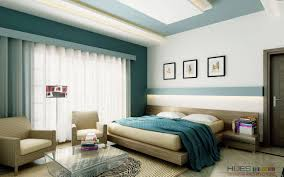 master bedroom feature wall:  white teal bedroom platform bed