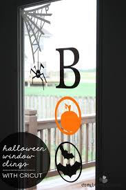 love halloween window decor: check out the new window cling material from cricut i made these halloween window clings and love them