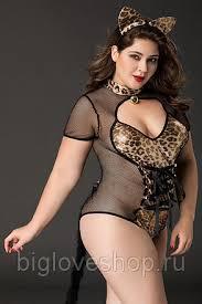 <b>Костюм кошки Candy</b> Girl Tawny (боди, ушки) черно-леопардовый ...