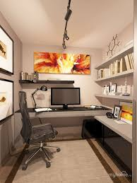 nice small home office practical setup kind of how my office is set up basement office design