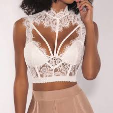 parthea chain strap bustier bra 2019 summer womens solid satin push up bralet club party crop top ladies sexy cropped short