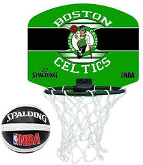 Spalding NBA Team <b>Mini Portable</b> Basketball <b>Set</b> Memorabilia ...