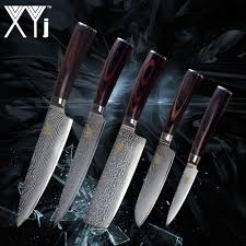 <b>XYj</b> Kitchen <b>Damascus Knife</b> Set New Arrival 2018 <b>VG10</b> Damascus ...