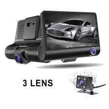 <b>3 Lens Car Dash</b> Cam 4 Inch FHD 1080P Car DVR Video Recorder ...