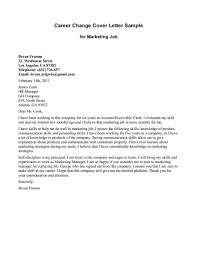 enchanting sample resume cover letter for career change changing careers cover letter