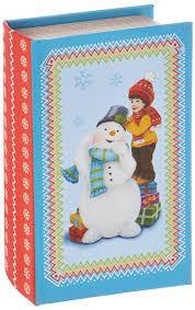 """<b>Шкатулка декоративная</b> Феникс-презент """"Снеговик и мальчик ..."""