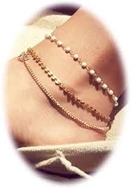 Zealmer <b>Metal</b> Chain Gold <b>Anklet Bracelet</b> Beach Foot Jewelry ...