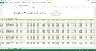 stock quote excel template excel templates for every purpose just like excel formulas we have made the second sheet example where you can see all the functions at work and have a short and nice description