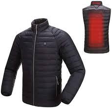 <b>Men</b> Jesaisque Outwear Heated Jackets,Winter <b>Mens</b> Smart USB ...