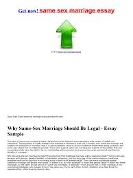 essay about same sex marriage   essay examplesame sex marriage essay