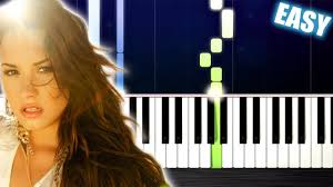 Demi Lovato - Skyscraper - EASY Piano Tutorial by PlutaX - YouTube