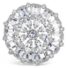 vintage weiss diamante brooch circa s stazia loren vintage weiss diamante brooch circa 1960 s