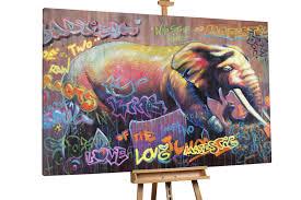 XXL <b>oil painting elephant</b> animal Pop Art | KunstLoft