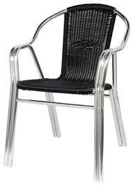 comfortable patio chairs aluminum chair: double tube aluminum amp rattan patio chair black