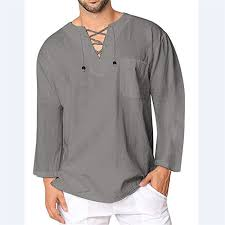 Mens Baggy Casual T <b>Shirt</b> Cotton Linen Tee Hippie Shirts <b>Long</b> ...