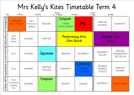 kites weekly timetable kites home welcome to term three