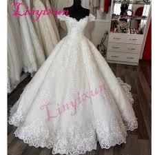 Elegant Short Sleeves Wedding Dress With <b>Appliques</b> Sweetheart ...