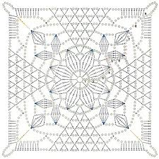 Stunning Rustic <b>Lace Square</b> - Free Pattern & Diagram Included ...