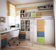 image of bunk beds with storage and desk modern bunk bed office space