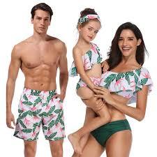 Summer Bohemian Bikini Set <b>Family Matching</b> Swimwear Mommy ...