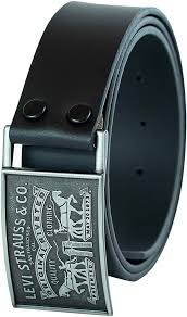 <b>Levi's</b> Men's Leather Belt With Plaque Buckle at Amazon Men's ...