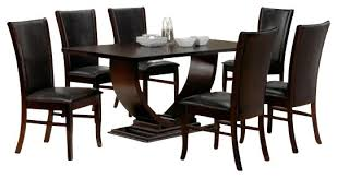 astonishing modern dining room sets: contemporary dining room tables and chairs photo of exemplary piece isabella collection espresso dining table nice
