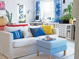 space living ideas ikea:  living room frame on white fur rug ikea black floor lamp built in entertainment center wall
