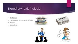 reading expository texts what is expository writing 3 expository texts include  textbooks  newspaper magazine articles  essays  speeches