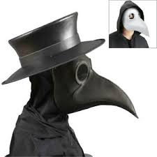 <b>Plague</b> Doctor <b>Costume</b> Mask Faux PU Leather Bird Beak ...