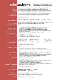 it project manager resume 9 resume samples for project managers